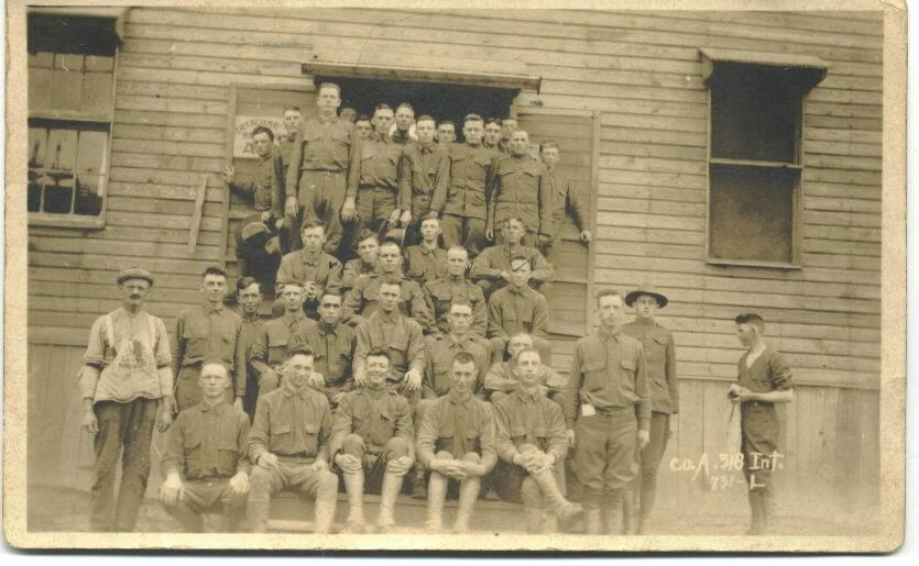 Co. A., 318th Infantry, April 1918