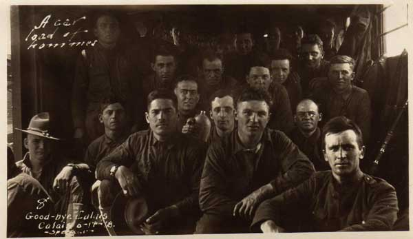 80th Div No2 inside train headed to training areas