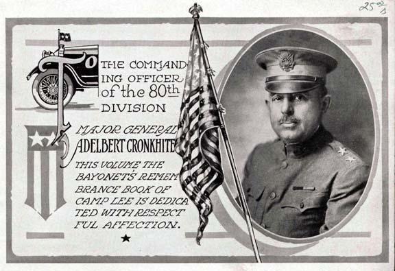 Major General Adelbert Cronkhite 80th Commander